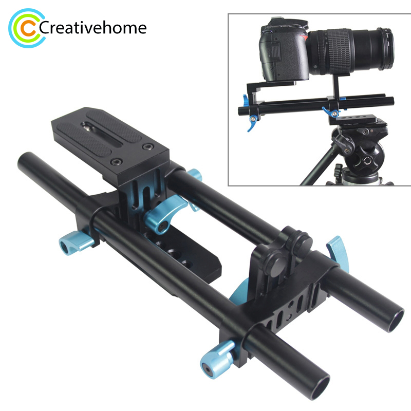 YEANGU YLG1005B 15mm Rail Rod DSLR Camera Track Rail Slider Baseplate System with 1/4
