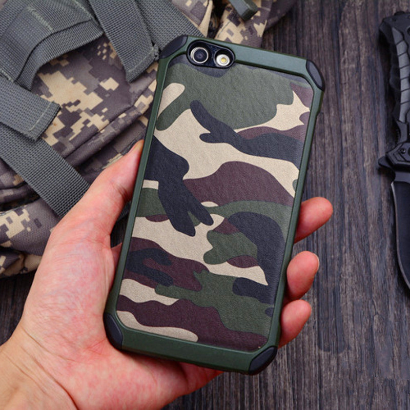OPPO F1S Case ! New Army Camo Camouflage Pattern Back Cover Hard Plastic TPU Armor Anti-knock Protective Cases For OPPO A59 A59M