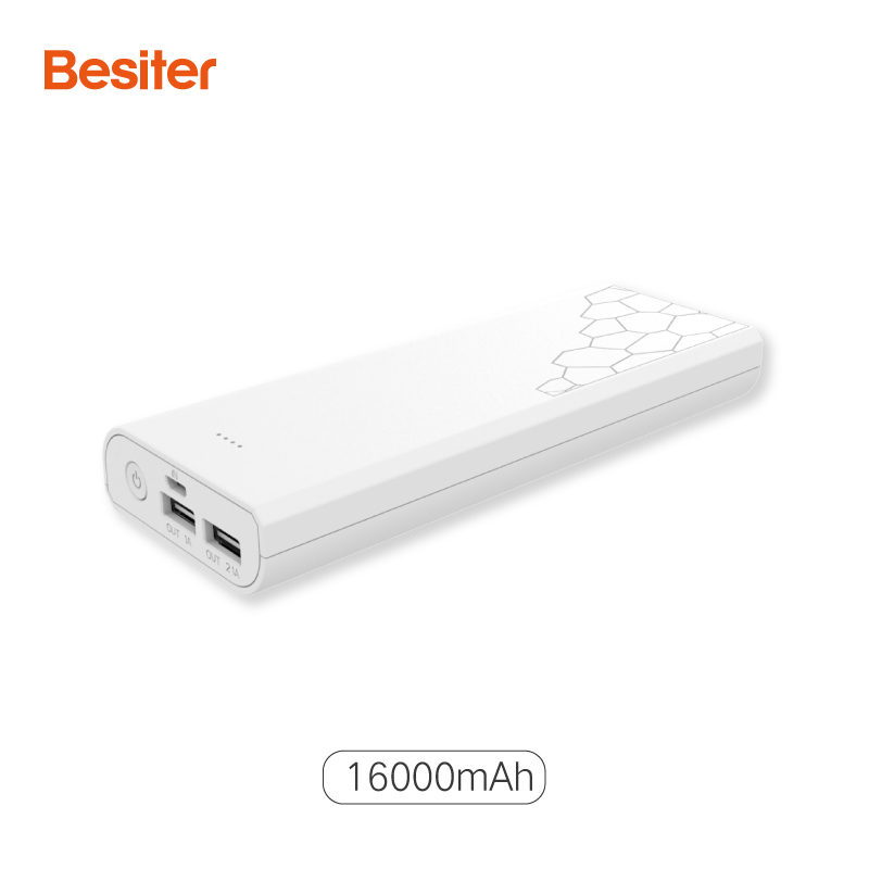 Besiter 16000mah Power Bank for Smart Phones 18650 External Battery Cell Charging Portable Small Poverbank for Xiaomi Samsung
