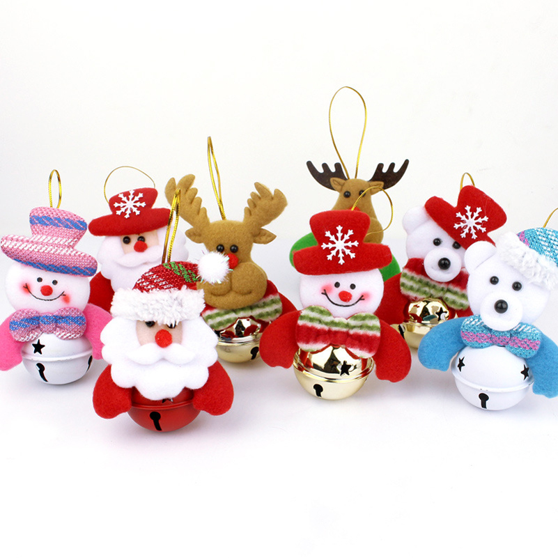 christmas bell ornaments santa claus snowman dolls accessories plush toys stuffed plush animals christmas tree decorations in movies tv from toys - Santa Snowman