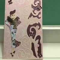 Elegant lady Carbon steel Cutting Dies for DIY Creative Scrapbook Cut Stamps Dies Stamps Dies Embossing Paper Craft 1 pc