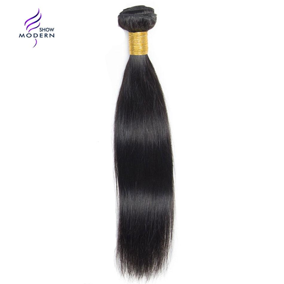 Modern Show Malaysian Straight Hair 100% Human Hair Bundles 1 3 4 Pcs Non Remy Hair Weaving Extensions 10-28 Human Hair Weave