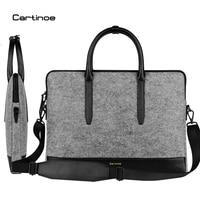 Cartinoe Wool Felt Laptop Bag 11 13 15 Notebook Shoulder Messenger Case For Macbook Air 11