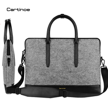 Cartinoe Wool Felt Laptop Bag 11 13 15 Notebook Shoulder Messenger Case for Macbook Air 11 Pro 13 Retina 12 15 Bag Women Handbag