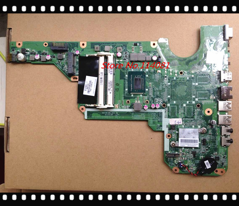 DAR33HMB6A1 REV : A 710873-001 / 710873-501 For Hp Pavilion G6 G4 G7 motherboard with cpu i3-3110M 100% tested working