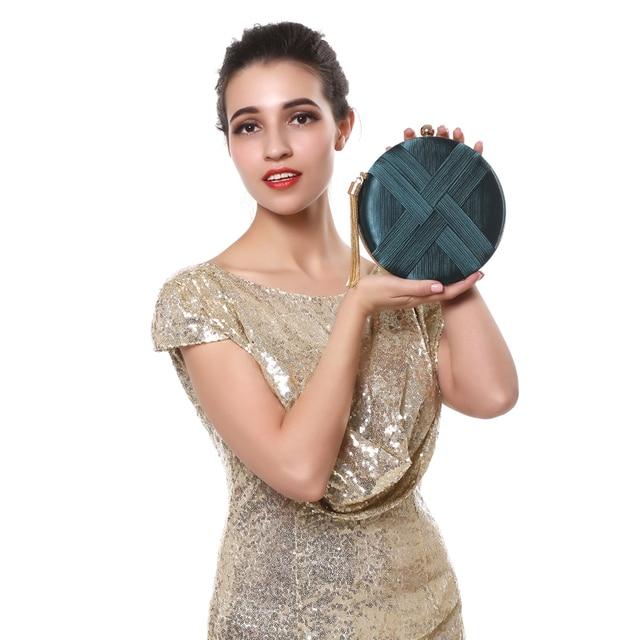 SEKUSA Fashion Women Bag Tassel Metal Small Day Clutch Purse Handbags Chain Shoulder Lady Evening Bags Phone Key Pocket Bags 4