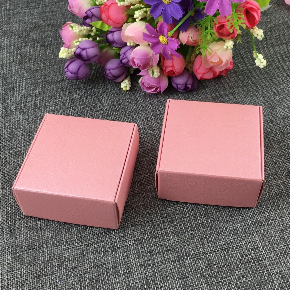 20pcs/lot Candy pink Paper Box, Handmade Soap Box, Jewelry pink ...