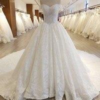 Бисер Часовня Поезд Свадебные платья Белый цветок украшения узор свадебное платье церковь Свадебная вечеринка robe de soiree
