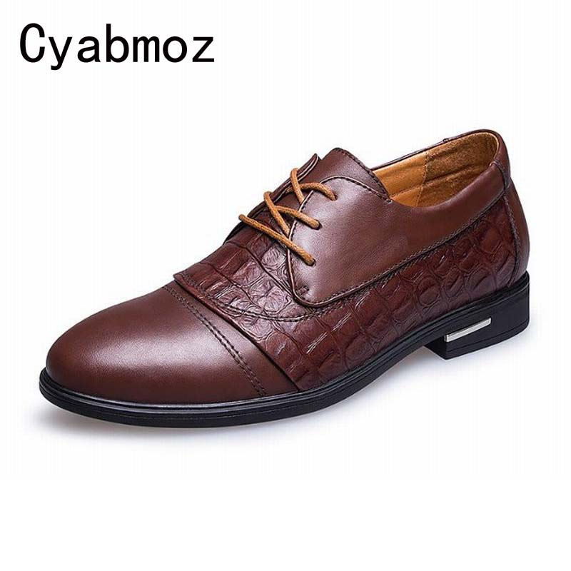 Invisible Elevator Shoes For Men Height Increasing 6cm Man Genuine Leather Casual Shoes Business Dress Crocodile chaussure homme