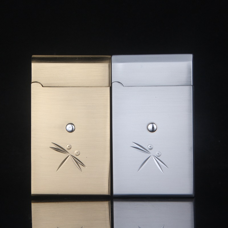 Electronic Touch Induction Windproof Lighter Creative Touch Sensing Smoking Gas Flame Lighter 2 Color Cigarette Lighter -CL326