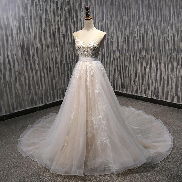 Lover Kiss Vestido De Noiva V Neck Skin Color Y Wedding Dresses Dress 2018 Transpa