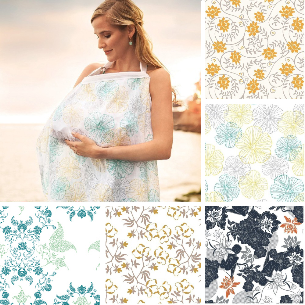 nº breastfeeding cover baby infant breathable cotton muslin nursing