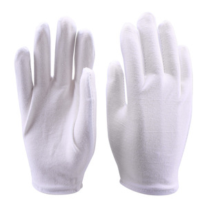 Image 5 - 1 pair White Cotton Gloves Full Finger Men Women Waiters/drivers/Jewelry/Workers Mittens Sweat Absorption Gloves Hands Protector