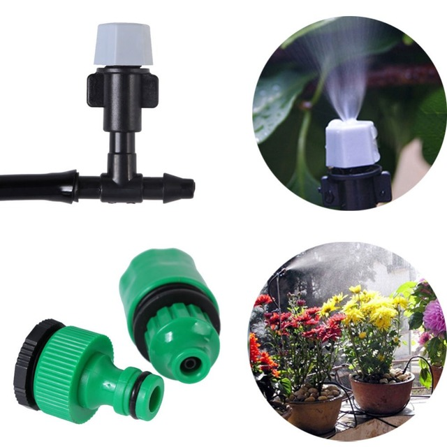Liplasting 10m 20 Mister Nozzles Garden Plants Irrigation Patio Misting Hose Cooling System