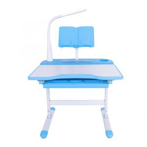 Image 4 - Study Table for Kids Protect Eyesight Adjustable Height Childrens Desk and Comfortable Chair Set with Lamp Kids Furniture