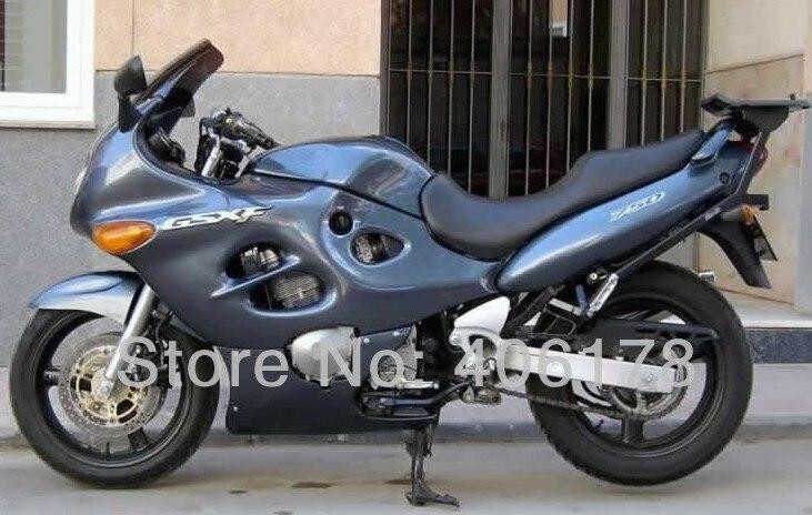 Hot Vendas, 03 04 05 06 GSXF750 03-06 conjunto completo Para Suzuki GSXF 750 2003-2006 2003 2004 2005 2006 Motocicleta Cinza carenagens