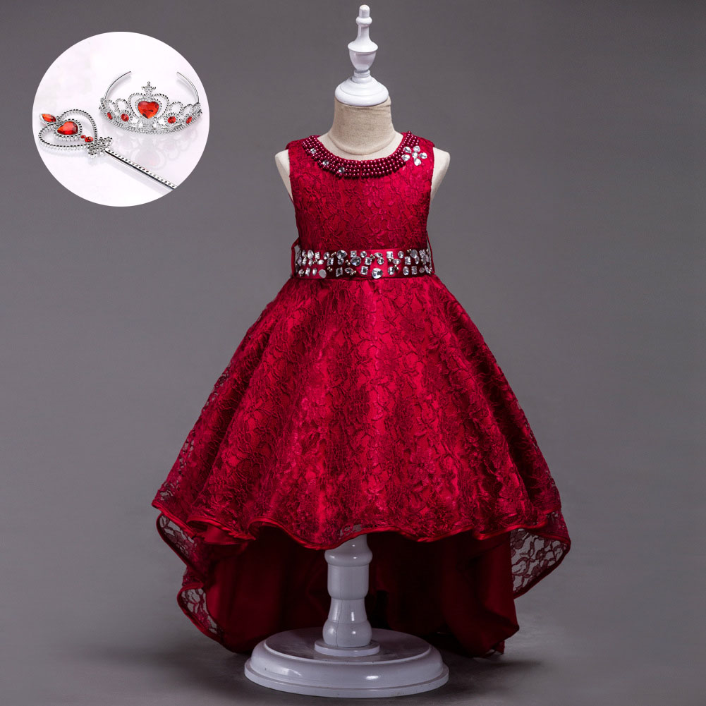 Boutique Kids Clothing Size 3 To 12 14 Children Gowns Girls New 2018 for Party Glitz Pageant Cute Short Prom Dresses fashion high quality brand letter children 3 piece suit boutique girls clothing size 8 to size 13 year