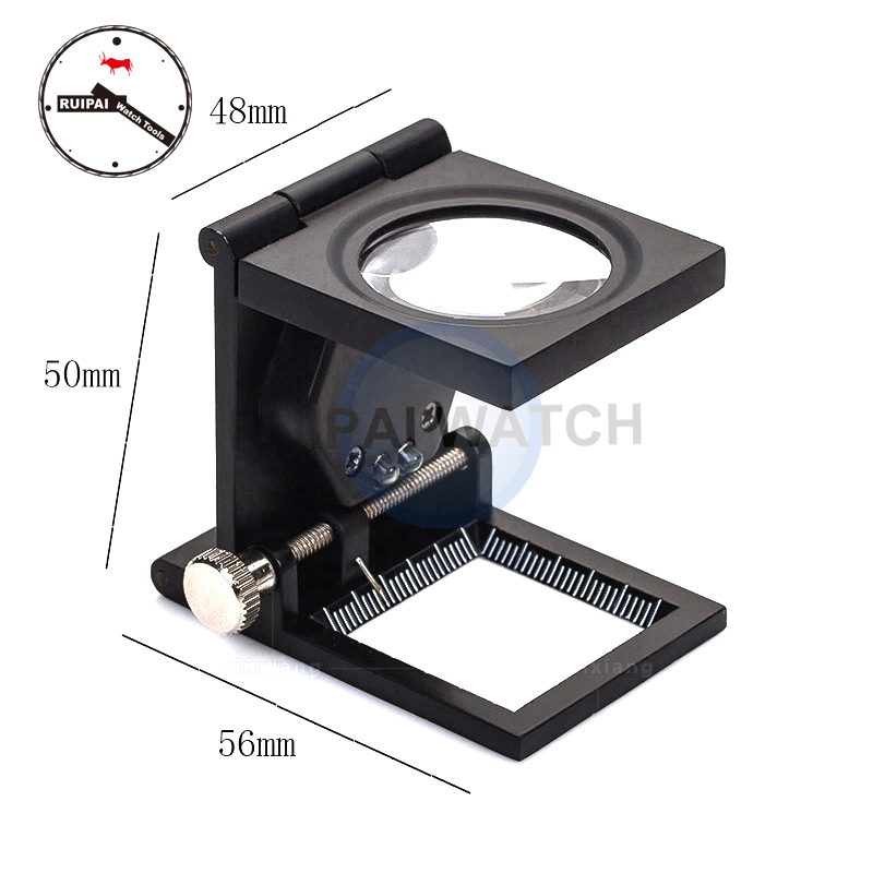 RP-9005A 10X Lens Magnifier Foldable Loupes With Light LED Optical Lenses Magnifying For Watchmaker Repairing