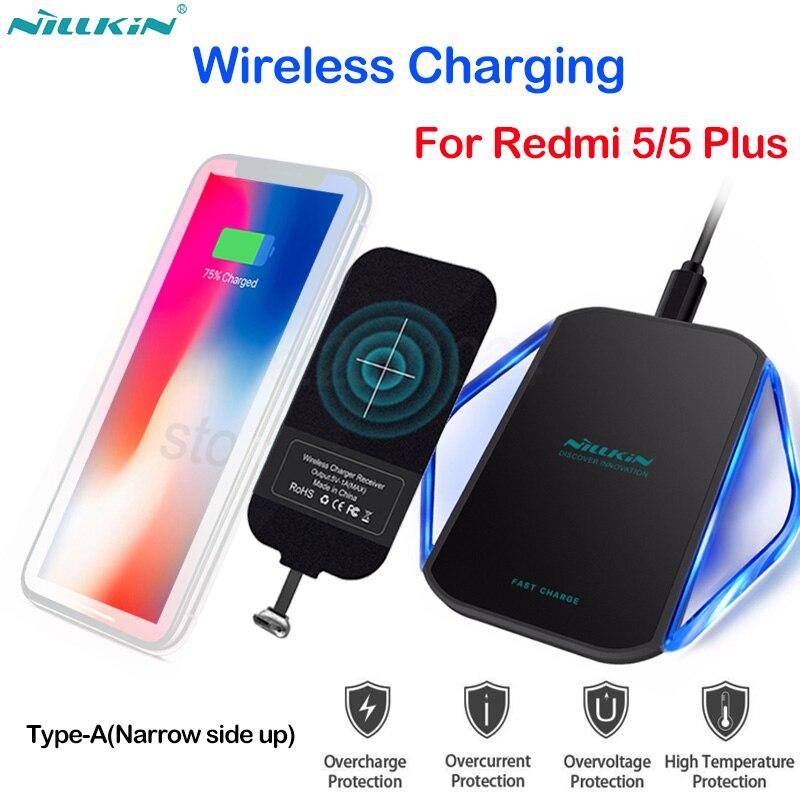 Nillkin Recharge Sans Fil pour Xiaomi Redmi 5/5 Plus Qi Rapide Sans Fil Chargeur + Micro USB Type UN Qi De Charge Récepteur puce Tag