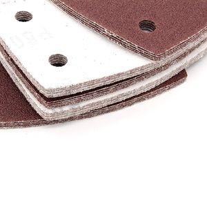 Image 5 - Прямая поставка 40 шт наждачная бумага листы крюк и петля шлифовальные листы 105x152 мм 11 отверстий зернистый диск наждачная бумага 60 240 шлифовальная бумага