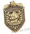 FNAF Five Nights at Freddy's Security Badge Pin Silver Gifts 2""
