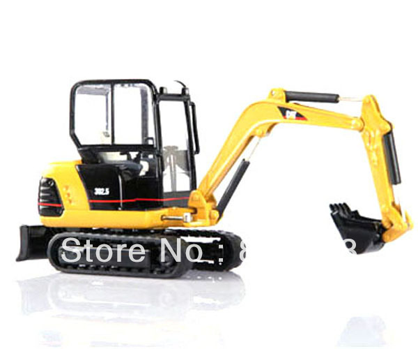 1:32 scale DieCast caterpillar cat 302.5 MINI HYDRAULIC EXCAVATOR Construction vehicles toy 1 50 liebherr r 944 c hydraulic excavator industrial toy