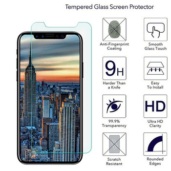 2.5D 9H Tempered Glass Screen Protector On The For iPhone X 8 8 Plus 7 6 6s plus 5 5s 5c SE 4 4s Protective Hard Glass Film