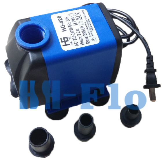 Hg420 type 30w small water pump 220v fall hydroponic for Small water fountain pump