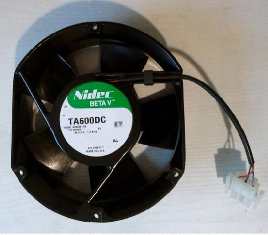 New Nidec A34438-59 EX 1.4mp 127*151*51MM dual ball UPS power fan for DC24V TA600DC 4pcs new for ball uff bes m18mg noc80b s04g