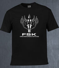 2018 Fashion Hot sale Norwegian Norway FSK Special Forces Forsvarets Viking Black Design T Shirt Tee shirt  Free shipping newest