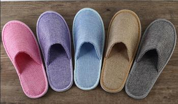 Free Shipping Good Quality 10pairs/Lot Great Quality Brand New Mixed Color Fiberflax Slippers Hotel Supplies Wholesale good quality wholesale