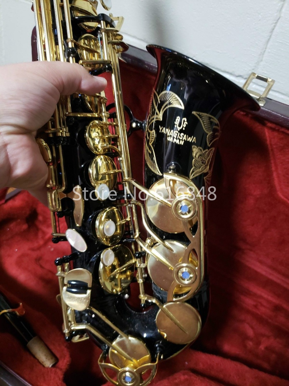 New Arrival YANAGISAWA A-990 Alto Saxophone Brass Tube Black Nickel Gold Surface Eb Tune Instruments With Case And MouthpieceNew Arrival YANAGISAWA A-990 Alto Saxophone Brass Tube Black Nickel Gold Surface Eb Tune Instruments With Case And Mouthpiece