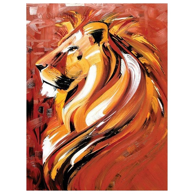 Free Shipping Decoration Items Hand Painted Abstract Animal Oil ...