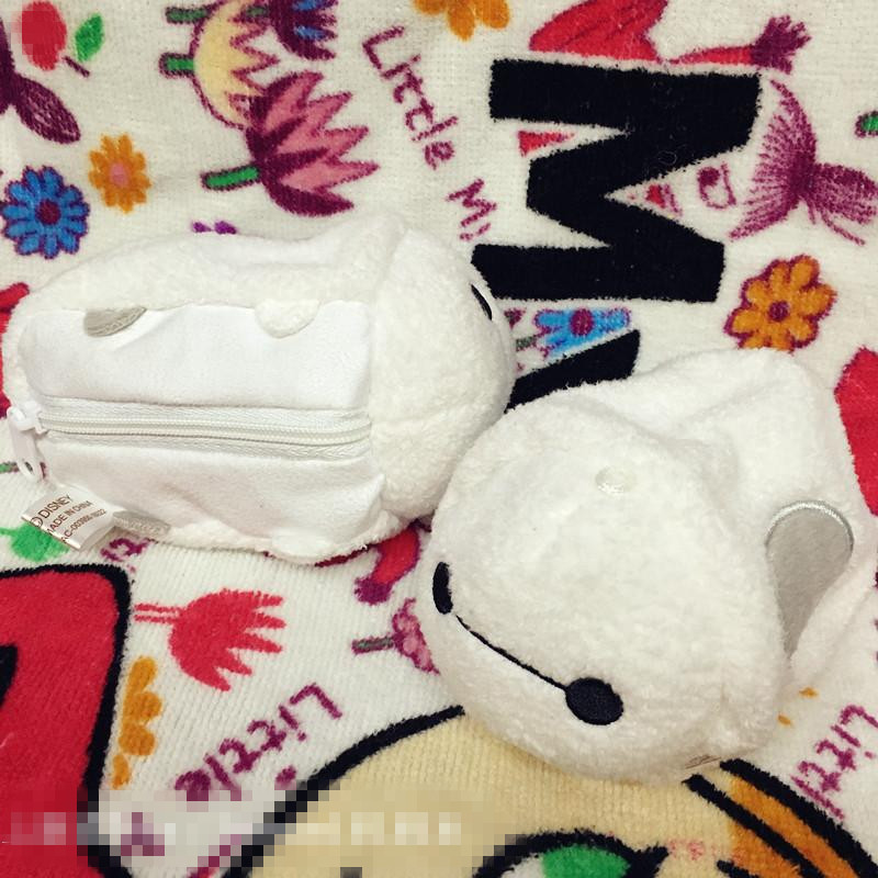 Rare Special Tsum Tsum Big Hero 6 Baymax Cute Soft Stuffed Plush Toy Mini Coin Purse Birthday Gift hot sale removable armor deformable big hero 6 2015 new deformable robot baymax children s action toy figures holiday gift