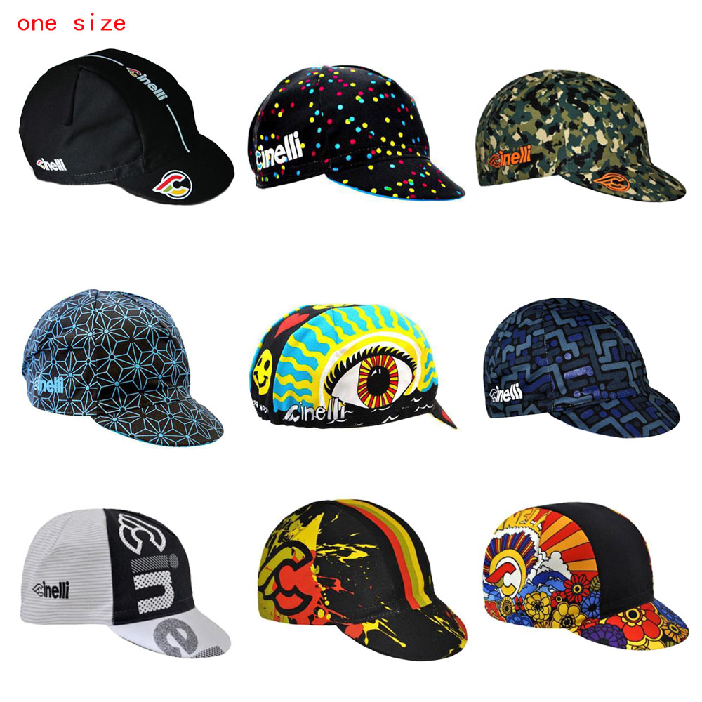NEW cycling cap men and women cycling headdress one size Breathable 9 style bike wear hat