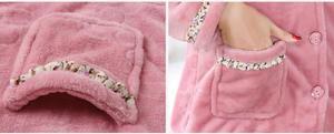 Image 5 - Fdfklak New casual pajamas for women long sleeve flannel pyjamas women large size womens pijamas set thick warm sleepwear suit