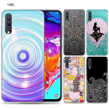 Bags Case for Samsung Galaxy Mobile Phone A50 A70 A30 A20 J4 J6 J8 A6 A8 M30 A7 Plus 2018 Note 8 9 Tumblr Artsy Drawings Ripple(China)