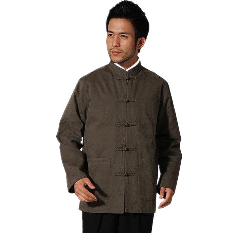 Offre spéciale vert hommes Tang costume classique Style chinois haut caché Dragon veste bouton manteau livraison gratuite S M L XL XXL XXXL