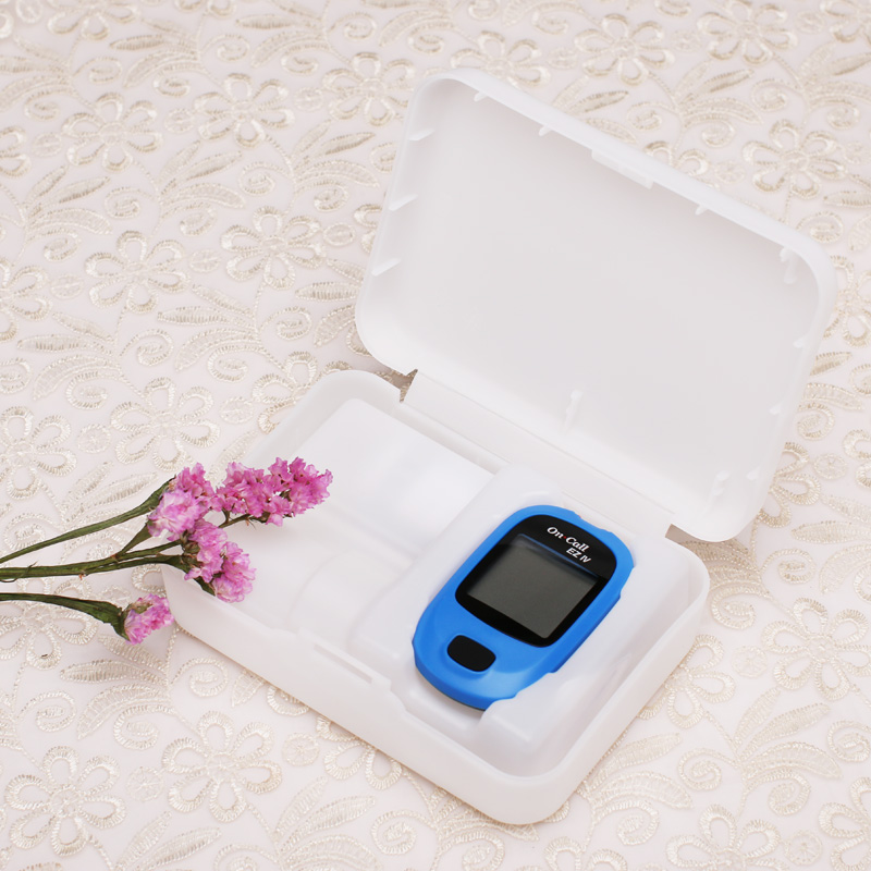 On Call EZ IV Glucose Meter Glucometer Measurement Monitor Household Test Blood Sugar Device for Diabetes with Strips&Lancets