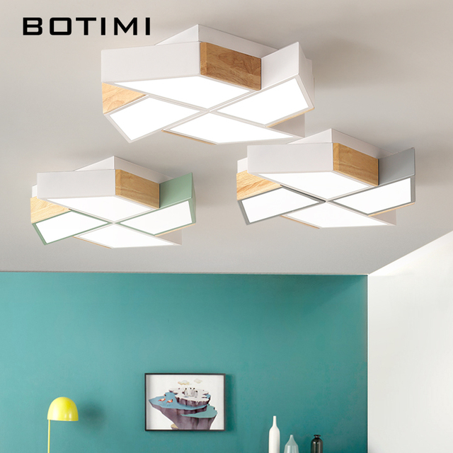 Botimi 220v Led Ceiling Lights In Windmill Shape For Living Room Lamparas De Techo Bedroom Boys Lamp Rooms Luminare