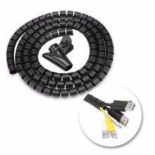 Tubo espiral flexível cabo de computador protetor cabo dobadoura fones cabo clipe organizador gestão dispositivo armazenamento fio