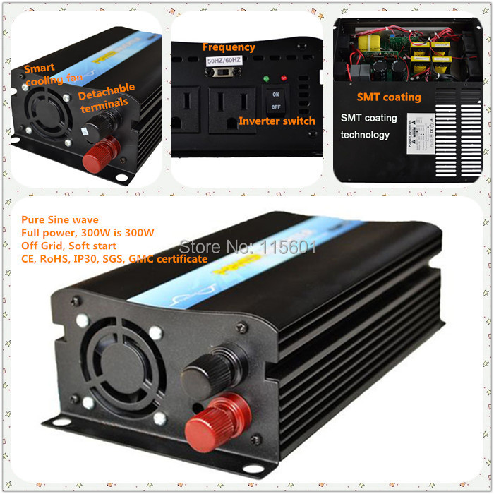 24v,240v, 300W pure sine wave  off-grid inverter, CE&ROHS approved, high quality, factory price ce rohs approved factory price off grid 600w truck inverter pure sine wave 12v 24v 48v to 110v 220v 230v truck inverter