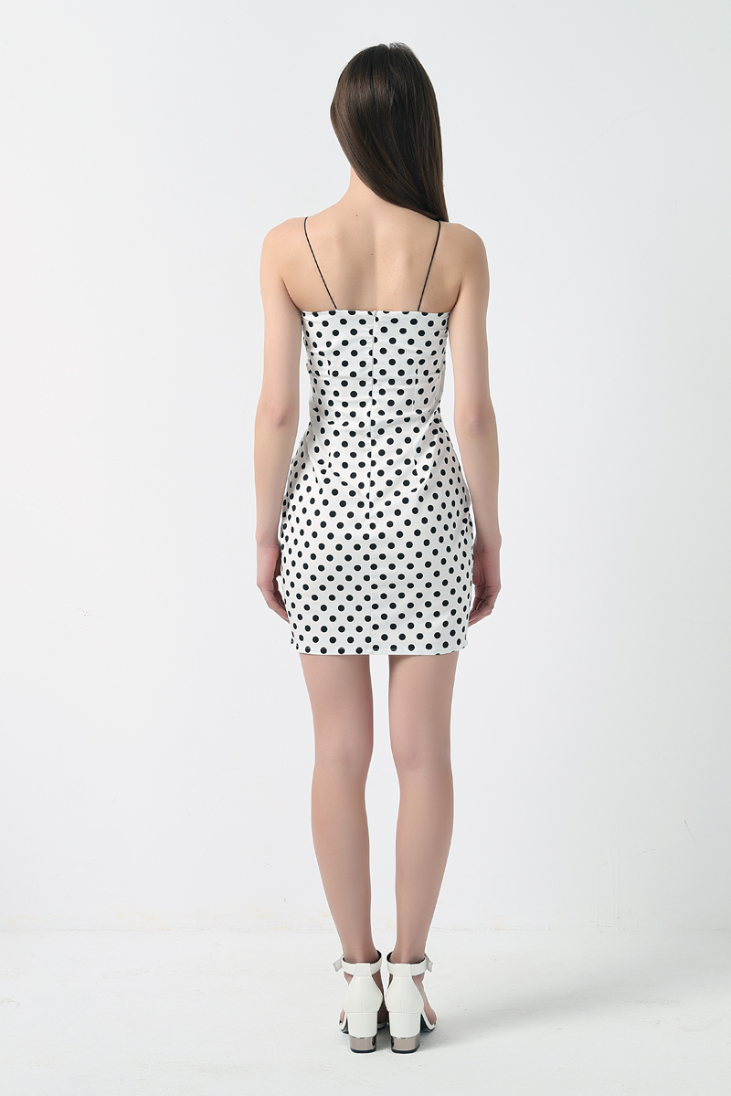 Kendall Jenner Outfit Polka Dot Dress Bodycon Mini Short Dress - kendall-jenner-outfits