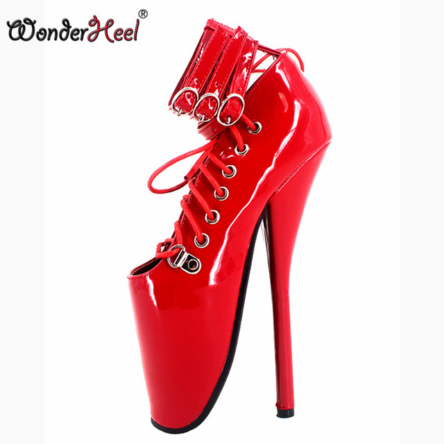 Womens Extreme High Fashion Ankle Strap Peep Toe Hidden 26