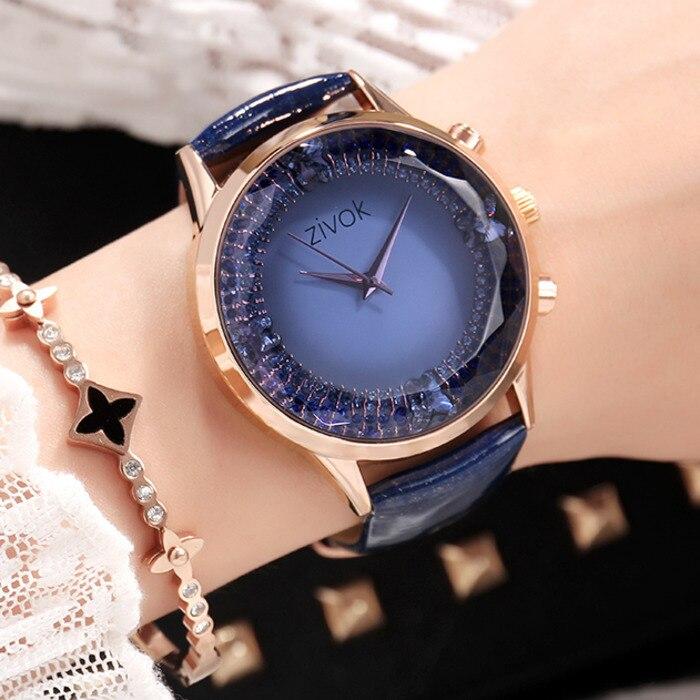 ZIVOK Sport Wrist Watch Women Reloj Mujer Top Brand Luxury Ladies Bracelet Watches Clock Women Big Dial Leather
