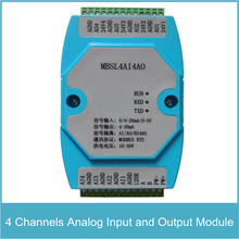 4 Channels Analog Input and Output Module 4 Channels AD Input and DA Output RS485 MODBUS Protocol Communication