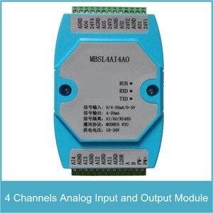 Image 1 - 4 kanałowy moduł wejścia i wyjścia analogowego 4 kanały wejście AD i wyjście DA komunikacja protokołu MODBUS RS485