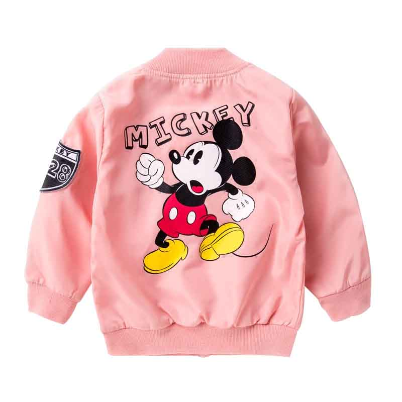 Disney Mickey Mouse Pink Jacket New Zippered Baby Jacket Spring And Autumn Cute Cartoon V Collar Jacket Cheap And Comfortable Baby Jacket Baby Spring Jacketmouse Jacket Aliexpress