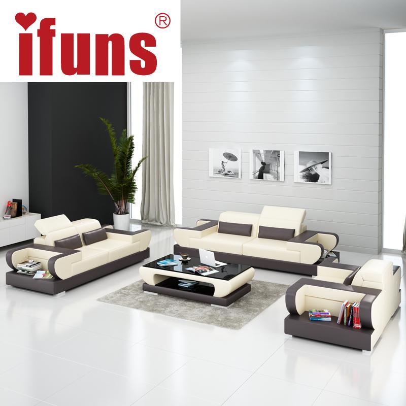 ifuns diseo moderno sof seccional piel genuino sof muebles juego de sala