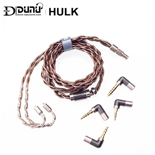 DUNU HULK Upgrade Cable for HIFI AUDIO Earphone IME Detachable MMCX 2 Pin 0.78mm/QDC Plug with 4 connectors 3.5/2.5/3.5pro/4.4mm 2